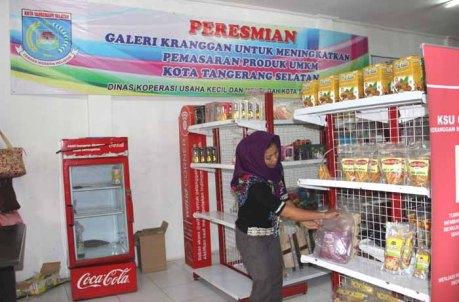 Tampak dalam, Galeri UMKM di Jalan Lingkar Selatan, Kelurahan Keranggan, Kecamatan Setu, Tangsel. (Foto: Gapey Sandy)